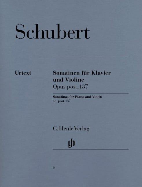 Sonatines pour violon op. post. 137 - SCHUBERT - laflutedepan.com
