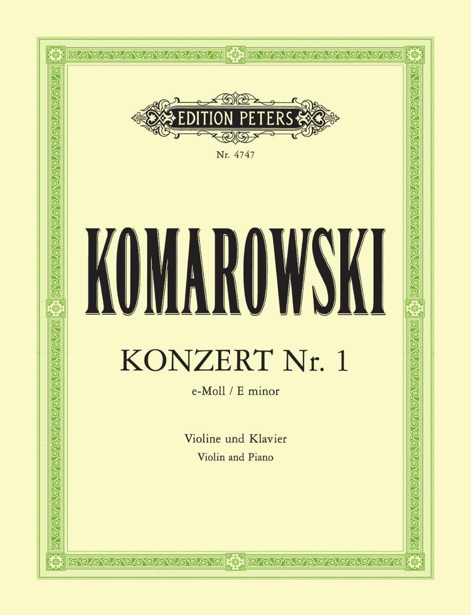 Concerto N°1 en Mi Mineur - Anatoli Komarowski - laflutedepan.com