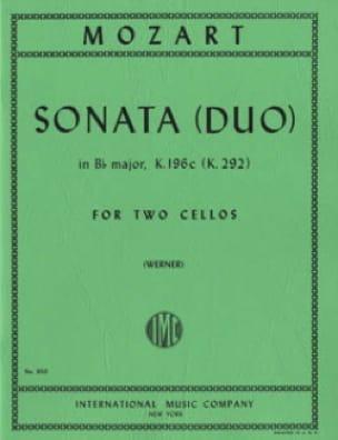 Sonata Duo in Bb major - MOZART - Partition - laflutedepan.com