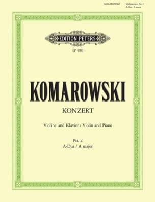 Concerto n° 2 pour violon Anatoli Komarowski Partition laflutedepan