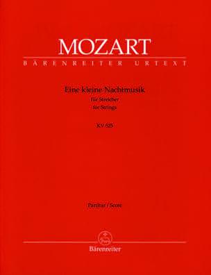 Eine kleine Nachtmusik G-Dur KV 525 - Partitur MOZART laflutedepan