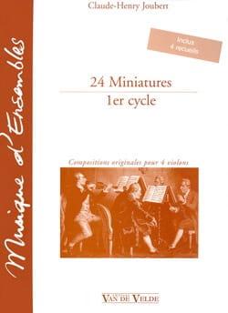 24 Miniatures - 1er cycle Claude-Henry Joubert Partition laflutedepan
