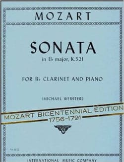 Sonata in Eb major KV 521 - MOZART - Partition - laflutedepan.com