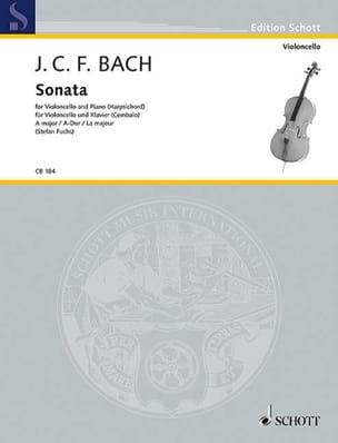 Sonate en La Majeur Johann Christoph Friedrich Bach laflutedepan