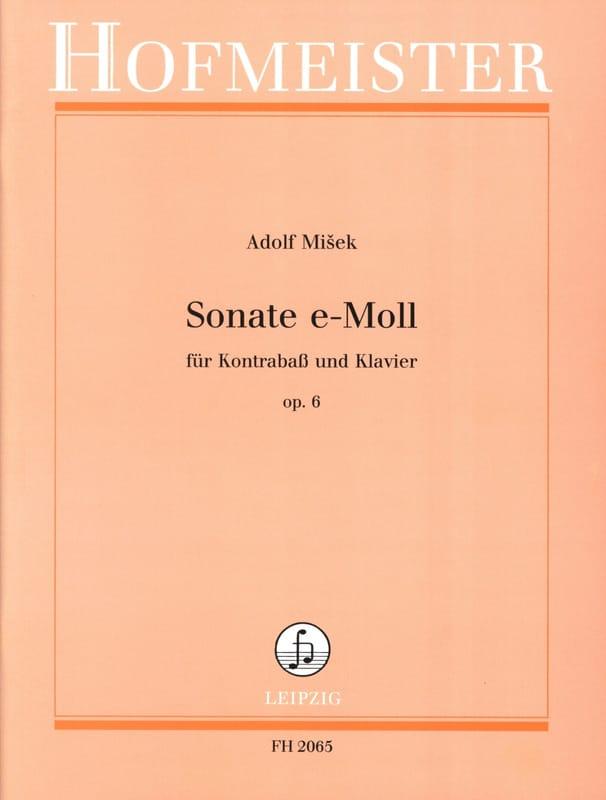 Sonate en Mi Mineur Op. 6 - Adolf Misek - Partition - laflutedepan.com