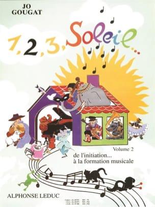 1, 2, 3, Soleil Volume 2 Jo Gougat Partition Solfèges - laflutedepan