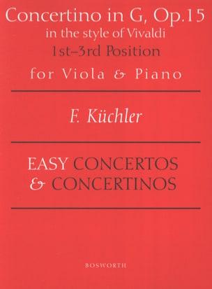 Concertino en Sol Opus 15 - Alto Ferdinand Küchler laflutedepan