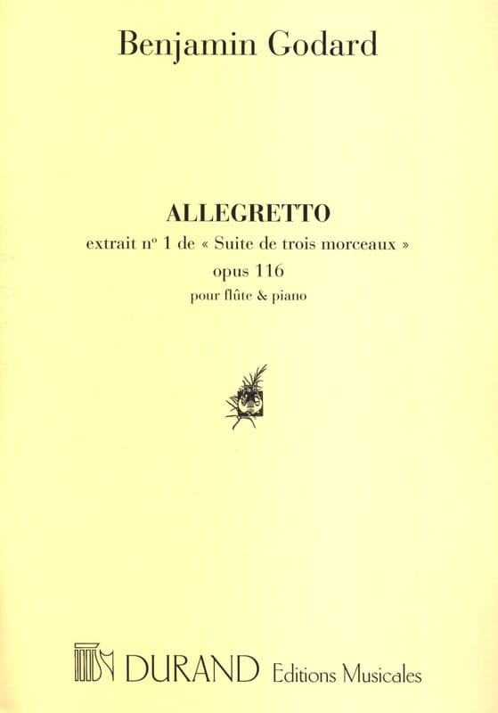 Allegretto - Benjamin Godard - Partition - laflutedepan.com