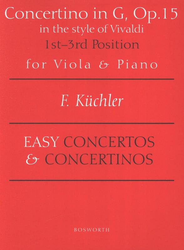 Concertino en Sol Opus 15 - Alto - laflutedepan.com