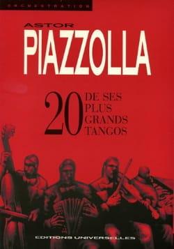 20 De ses plus grands Tangos Astor Piazzolla Partition laflutedepan