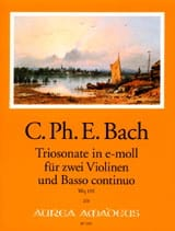 Triosonate En Mi Mineur Wq 155 Carl Philipp Emanuel Bach laflutedepan