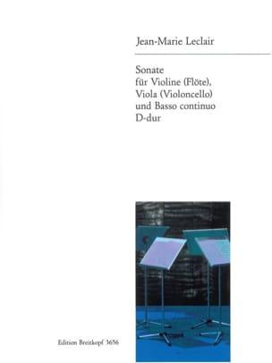 Sonate D-Dur -Violine Viola u. Bc LECLAIR Partition laflutedepan