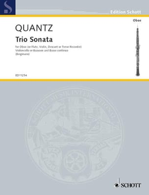 Triosonate G-Dur Oboe Violoncello Bc QUANTZ Partition laflutedepan