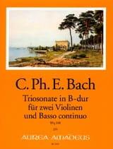 Triosonate en sib majeur Wq 158 Carl Philipp Emanuel Bach laflutedepan