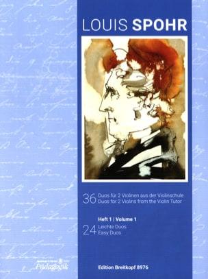 36 Duos Vol. 1 - 2 Violons SPOHR Partition Violon - laflutedepan