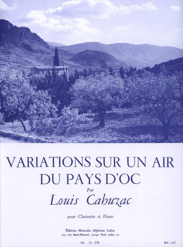 Variations sur un air du Pays d'Oc - Louis Cahuzac - laflutedepan.com
