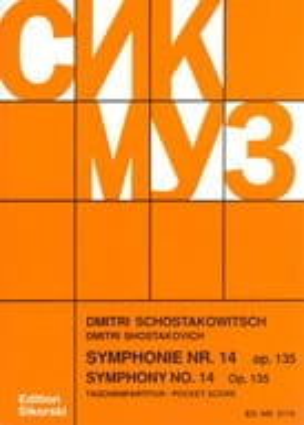 Symphonie Nr. 14 op. 135 - Partitur CHOSTAKOVITCH laflutedepan
