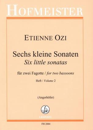 6 kleine Sonaten, Heft 2 Etienne Ozi Partition Basson - laflutedepan