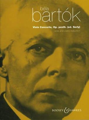 Viola Concerto op. posth vers. Serly BARTOK Partition laflutedepan