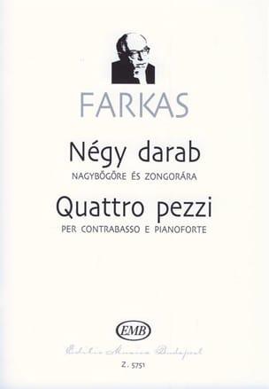 Quattro pezzi Ferenc Farkas Partition Contrebasse - laflutedepan