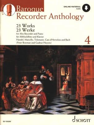 Baroque Recorder Anthology Volume 4 Auteurs Divers laflutedepan