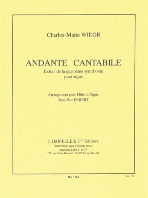Andante cantabile Widor Charles-Marie / Imbert Jean-Paul laflutedepan