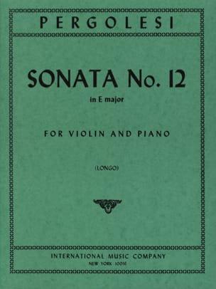 Sonata n° 12 in E major Longo PERGOLESE Partition laflutedepan