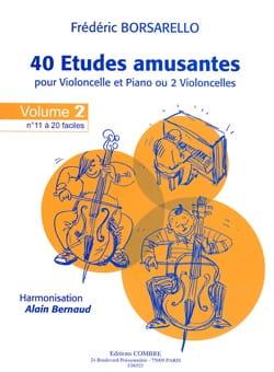 40 Etudes Amusantes Vol.2 Frédéric Borsarello Partition laflutedepan