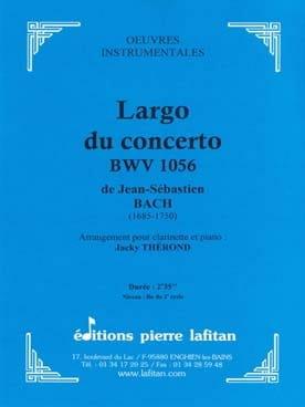 Largo du Concerto BWV 1056 BACH Partition Clarinette - laflutedepan
