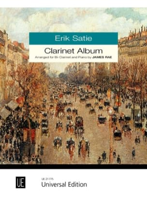 Clarinet Album SATIE Partition Clarinette - laflutedepan
