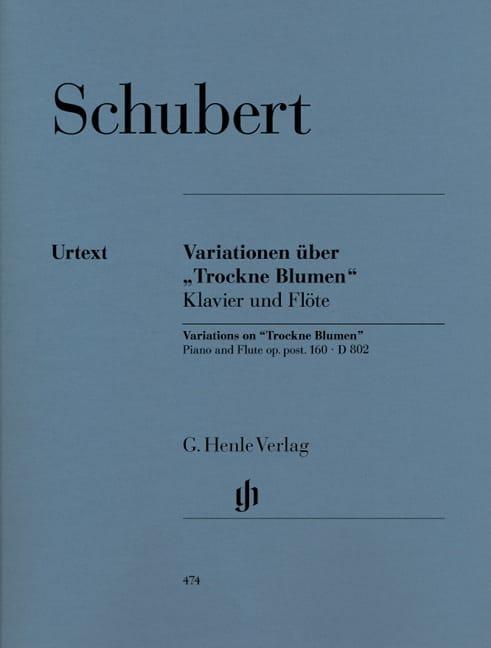 Variationen über Trockne Blumen D 802 - SCHUBERT - laflutedepan.com