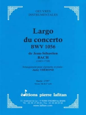 Largo du Concerto BWV 1056 - BACH - Partition - laflutedepan.com
