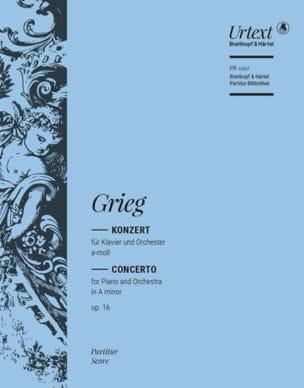 Concerto op. 16 GRIEG Partition Grand format - laflutedepan