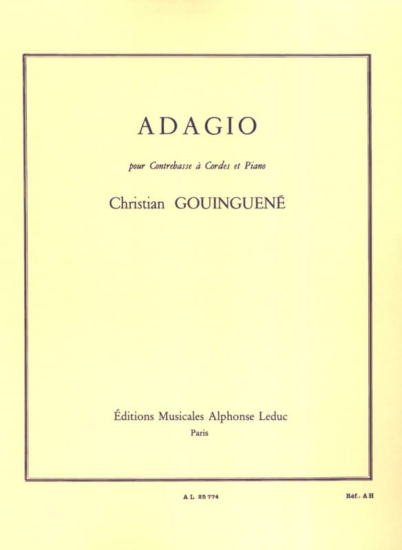 Adagio - Christian Gouinguené - Partition - laflutedepan.com