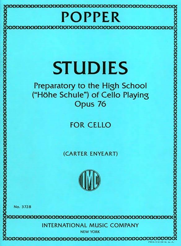 Studies, opus 76 - Violoncelle - David Popper - laflutedepan.com