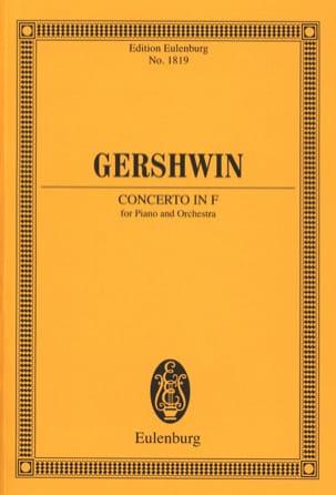 Klavier-Konzert F-Dur - Conducteur GERSHWIN Partition laflutedepan