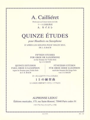 15 Etudes André Caillieret Partition Hautbois - laflutedepan