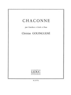 Chaconne Christian Gouinguene Partition Contrebasse - laflutedepan
