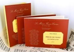 Pieces de viole - 4ème Livre Marin Marais Partition laflutedepan