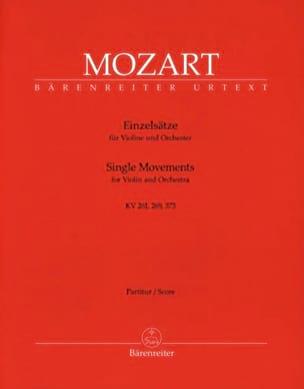 Einzelsätze für Violine KV 261, 269, 373 - Partitur laflutedepan