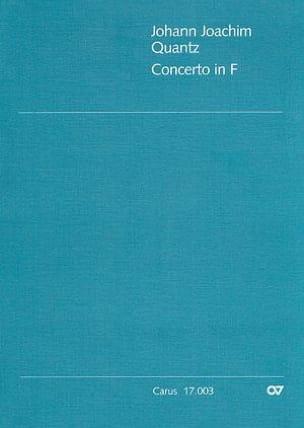 Concerto in F - QV 5 : 162 - Partitur QUANTZ Partition laflutedepan