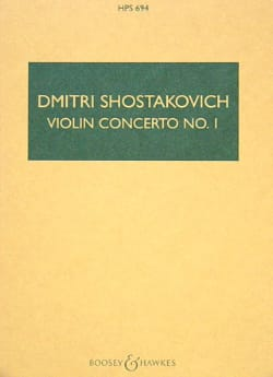 Concerto Violon n° 1 op. 77 - Partitur CHOSTAKOVITCH laflutedepan