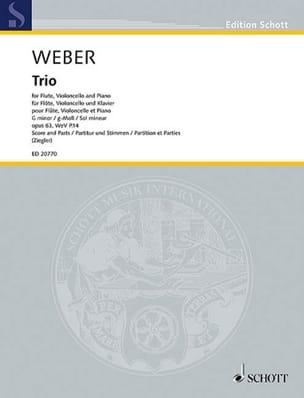 Trio en sol mineur, op. 63 Carl Maria von Weber Partition laflutedepan