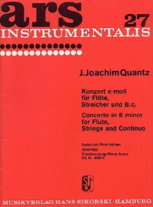 Konzert e-moll - Flöte Klavier - QUANTZ - Partition - laflutedepan.com