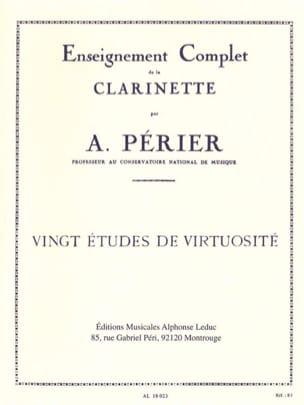 20 Etudes de virtuosité Auguste Périer Partition laflutedepan