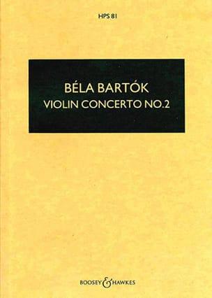 Violin Concerto n° 2 - Score BARTOK Partition laflutedepan