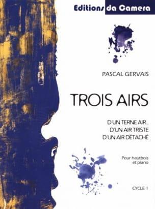 Trois Airs - Hautbois et Piano Pascal Gervais Partition laflutedepan