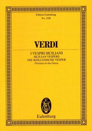 Die Sizilianische Vesper, Ouverture VERDI Partition laflutedepan