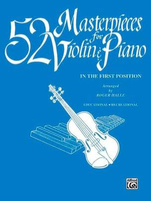 52 Masterpieces Roger Halle Partition Violon - laflutedepan
