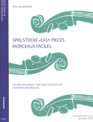 Morceaux faciles - 3 Violoncelles Josef Rentmeister laflutedepan